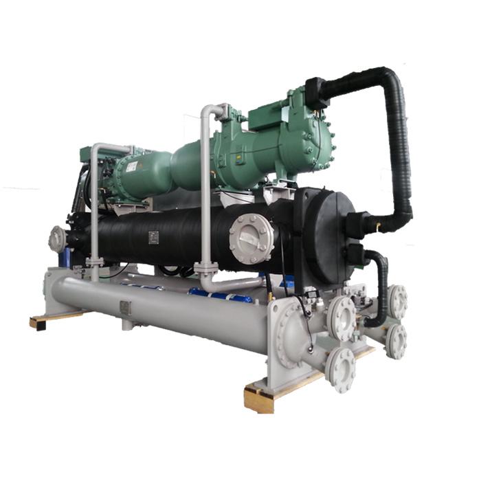 高精度工业冷水机组的制作,螺杆式水地源热泵机组